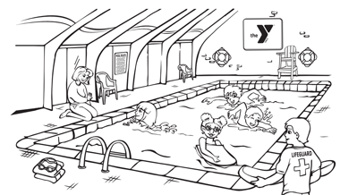 YMCA Coloring Page